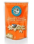 Ginger and Sweet Orange popcorn and Ginger, Sea Salt and Caramel popcorn